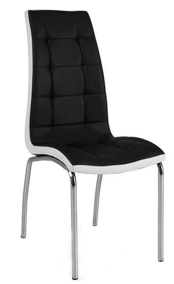 Ēdamistabas krēsls Signal Meble H104 White Stripes Black, 1 gab.