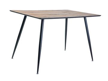 Pusdienu galds Signal Meble Remus Oak/Matt Black, 1200x800x750 mm