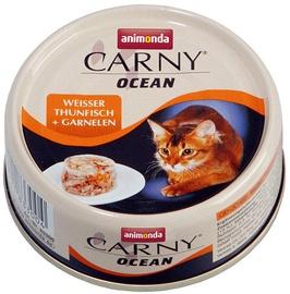 Mitrā kaķu barība (konservi) Animonda Carny Ocean Tuna & Shrimps 80g