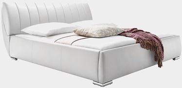 Кровать Meise Möbel Bern White, 200x200 см, с решеткой