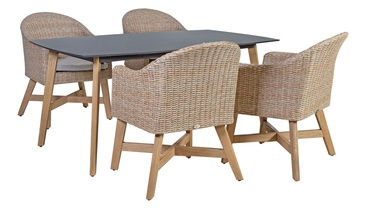 Home4you Henry K10246 Table And 4 Chairs Beige