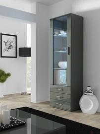 Шкаф-витрина Cama Meble Soho S1, серый, 60x41x192 см