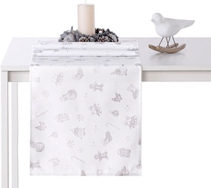AmeliaHome Christmas Story AH/HMD Tablecloth Silver 40x140cm