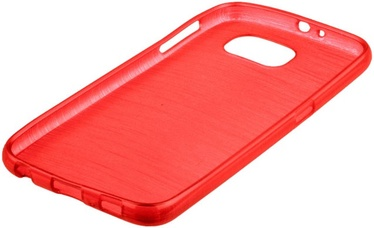 Forcell Jelly Brush Pearl Back Case For Samsung Galaxy S7 Red