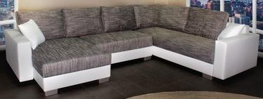 Stūra dīvāns Platan Gustaw 01 White/Grey, 315 x 135 x 87 cm
