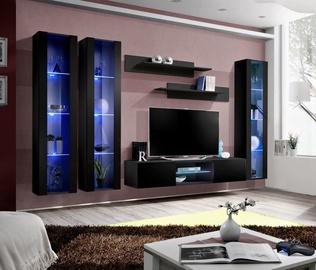ASM Fly P2 Living Room Wall Unit Set Black