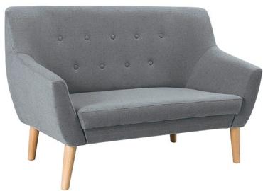 Dīvāns Signal Meble Nordic 2 Cablo 14 Gray, 136 x 75 x 90 cm