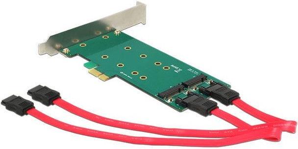Delock PCIe to 2 x M.2 Key B + SATA