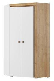Гардероб Szynaka Meble Riva 11 White/Oak, 95x95x197 см