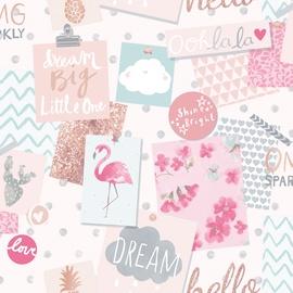 Ecodeco Wallpaper LO2401 Pink