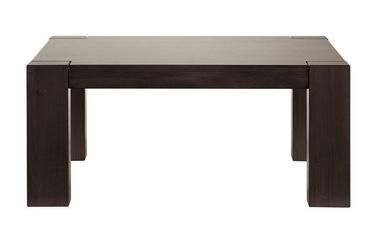 Kafijas galdiņš Black Red White Rectangle, brūna, 1100x680x485 mm