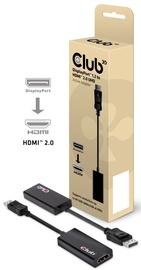 Club 3D DisplayPort 1.2 to HDMI 2.0 UHD Active Adapter Black