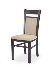 Ēdamistabas krēsls Halmar Gerard 2 Dark Walnut/Torent Beige
