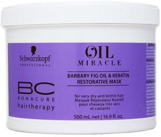 Matu maska Schwarzkopf BC Bonacure Oil Miracle Barbary Fig&Keratin Mask, 500 ml