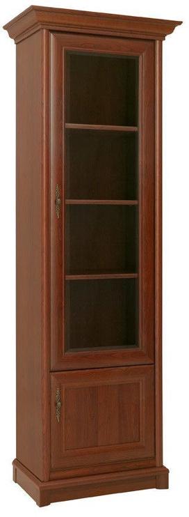 Black Red White Glass Door Cabinet Right Kent 70x204x43cm Chestnut
