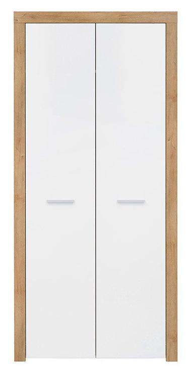 Skapis Black Red White Balder White/Oak, 90x51.5x192 cm