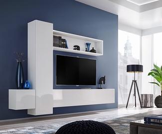 ASM Blox IX Living Room Wall Unit Set White