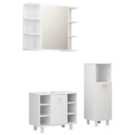 Vannas istabas mēbeļu komplekts VLX 3056943, balta, 30 x 30 cm x 95 cm