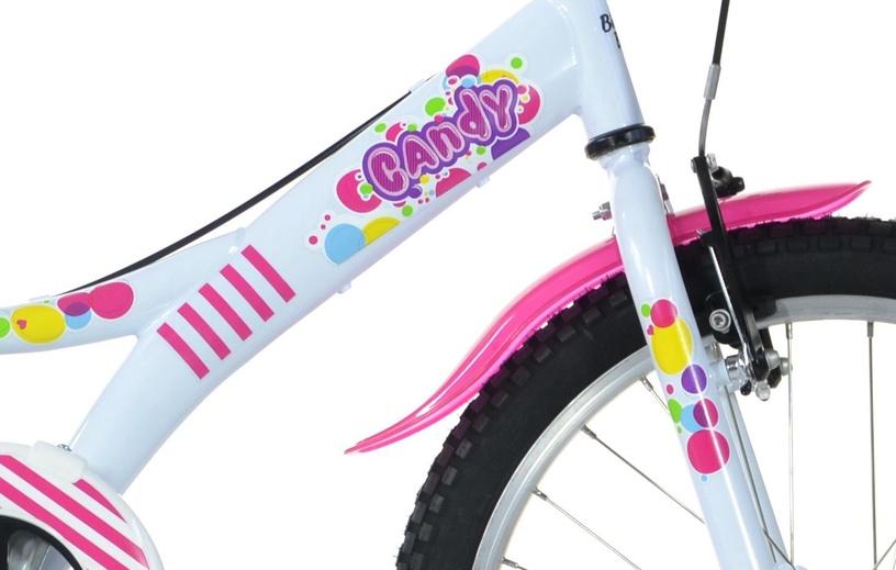Детский велосипед Bottari Candy 77330, белый/розовый, 20″