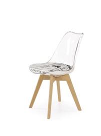 Ēdamistabas krēsls Halmar K246 Transparent/Beech