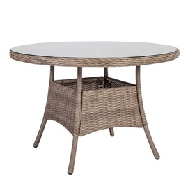 Dārza galds Home4you Toscana Beige, 110 x 110 x 73 cm