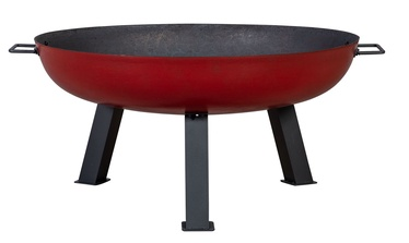 Home4you Warm Seeker Fire Pit D75x37cm Red