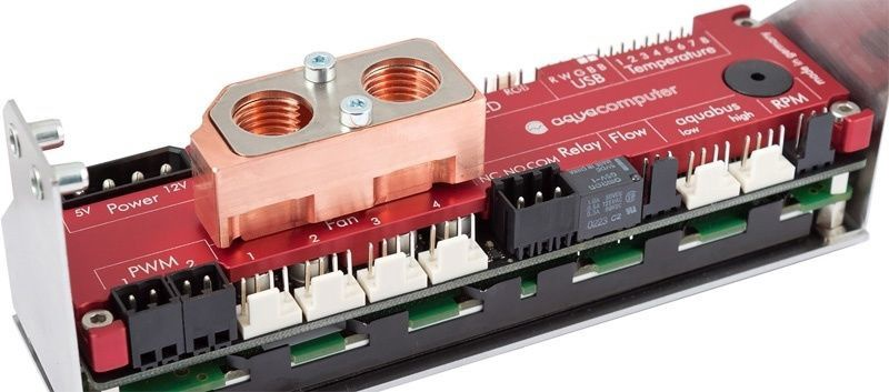 Aqua Computer Passive Heat Sink for Aquaero 6 Red