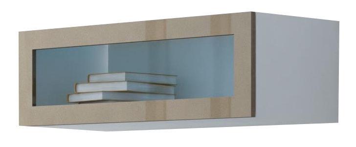 Cama Meble Vigo 90 Cabinet Glass White/Latte Gloss