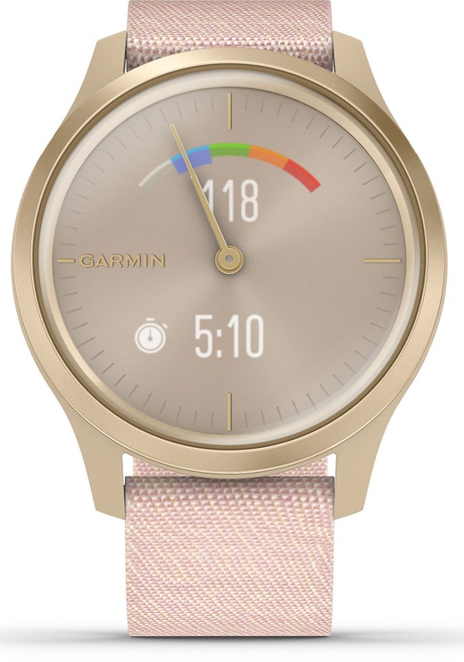 Garmin Vivomove 3 Style 42mm Nylon Gold Pink