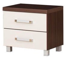 Ночной столик Bodzio Amadis A42 Vanilla/Brown