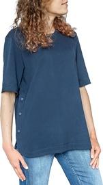 Audimas Comfort Fit Stretch Cotton Tee Navy Blue M