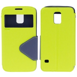 Roar Fancy Diary S-View Book Case For Sony Xperia E4 Light Green/Blue