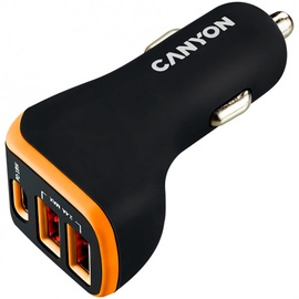Зарядное устройство Canyon Universal, черный/oранжевый