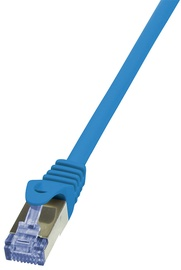 LogiLink Patch Cable CAT 6A 10G S/FTP PrimeLine 7.5m Blue