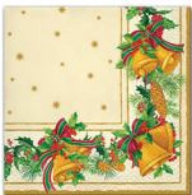 Paw Decor Collection Frame With Bells Cream Napkins 33x33cm