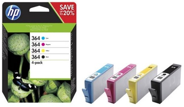 HP 364 CMYK Ink Cartridge 4 Pack Black Yellow Cyan Magenta