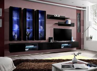 ASM Fly Q3 Living Room Wall Unit Set Black
