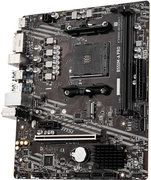 Mātesplate MSI B550M-A PRO