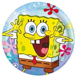 Šķīvji dzim. dienas Spongebob8 gab