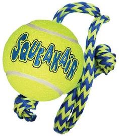 Kong Squeaker Tennis Ball With Rope Medium