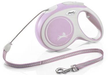 Поводок Flexi New Comfort Cord M, розовый, 5 м