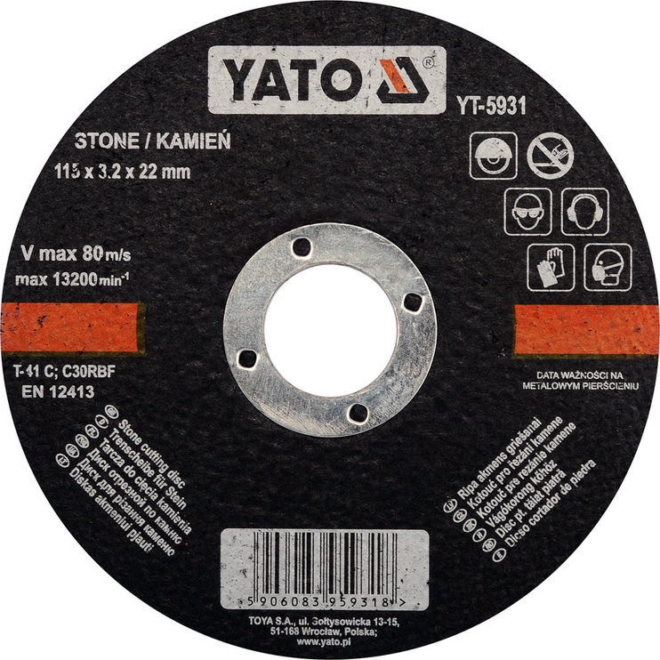 Yato YT-5931 Stone Cutting Disc 115mm