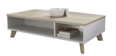 Kafijas galdiņš Cama Meble Lotta 110 Sonoma Oak/White, 1100x600x350 mm