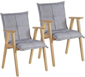 Atzveltnes krēsls Home4you Razor Grey, 58x59x85 cm