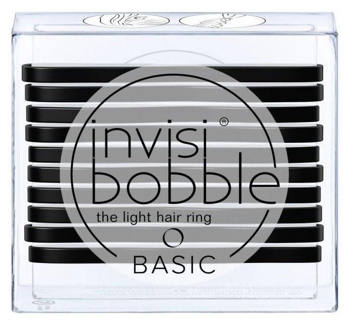 Invisibobble Basic Light Hair Rings 10pcs True Black