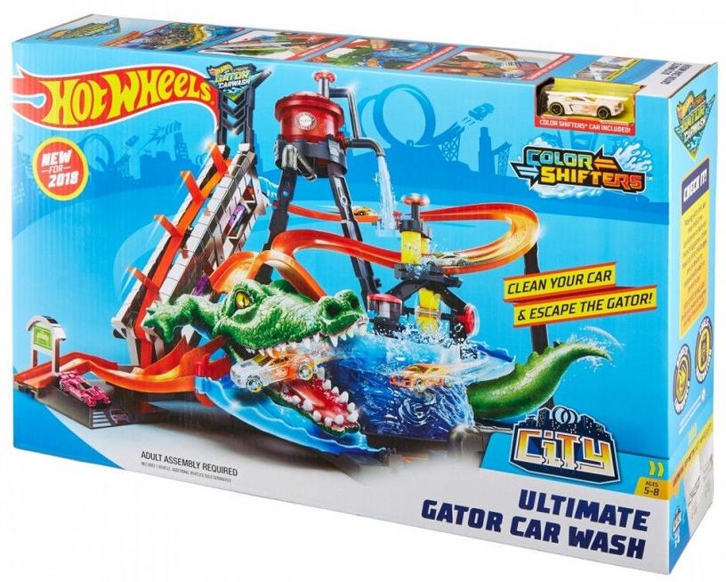 Добавки Mattel Hot Wheels City Hot Ultimate Gator Car Wash FTB67