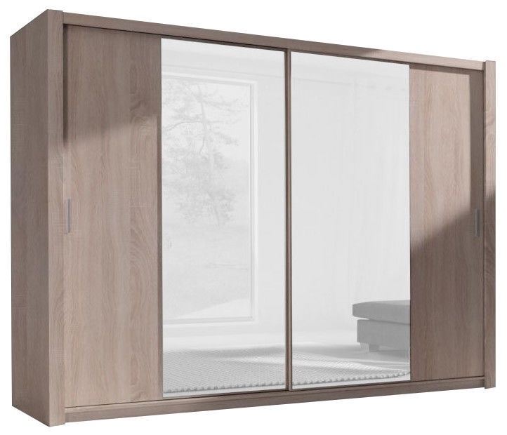 Skapis GIB meble Monako MT-220, 250x61x215 cm, with mirror