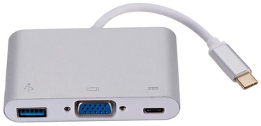 RoGer Type-C To VGA Adapter Silver