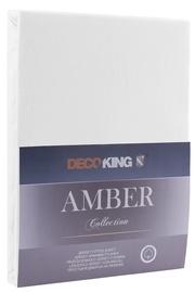 DecoKing Amber Bedsheet 140-160x200 White
