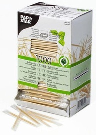 Pap Star Wooden Toothpicks Mint 6.6cm 1000pcs